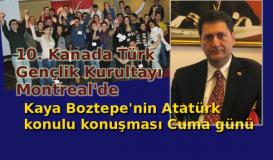 10. Kanada Türk Gençlik Kurultayı Montreal'de