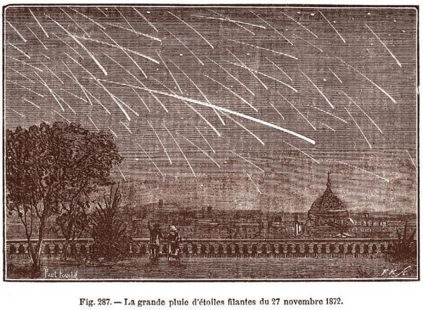 Les étoiles filantes en 1872.