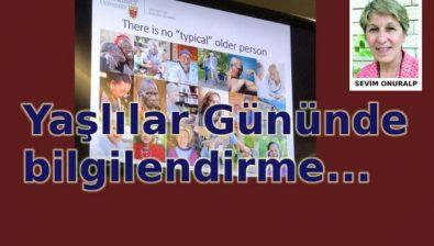 Dünya Yaşlılar Günü'nde bilgilendirme