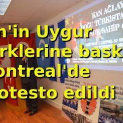 Çin'e Uygur Protestosu (Görseller)