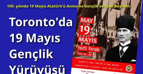 Toronto'da 19 Mayıs Gençlik Yürüyüşü