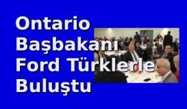 Ontario İl Başbakanı Doug Ford Türklerle