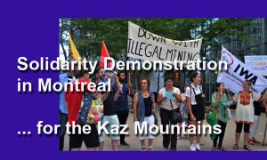 Demonstration in Montreal for the Kaz Mountains