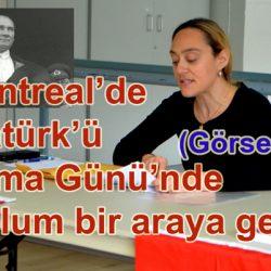 Montreal'de Atatürk'ü Anma Günü-19 (Görseller)