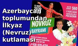 Azerbaycan toplumu İlkyaz'ı kutluyor