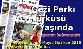 Gezi Parkı Türküsü 7 Yaşında