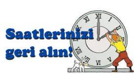 Saatlerinizi Geri Alın!