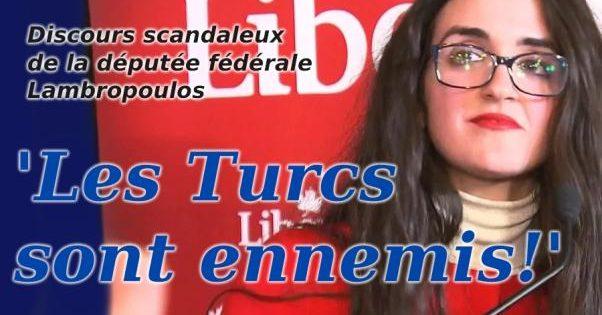 Députée Lambropoulos: 'Les Turcs sont ennemis!'