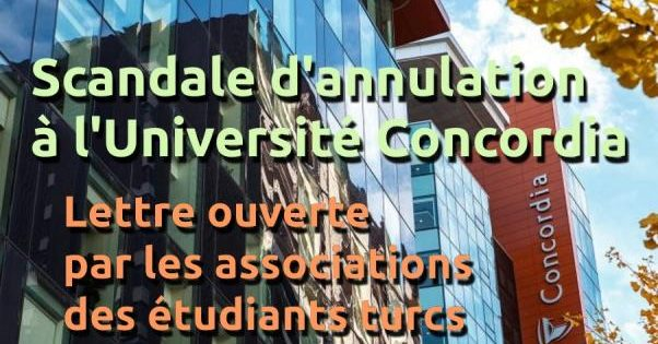 Scandale d'annulation à l'Université Concordia
