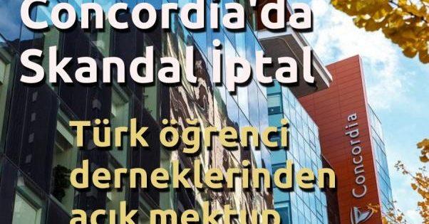 Concordia Üniversitesi'nde Skandal İptal