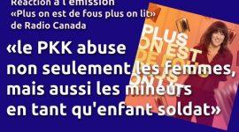 Réaction à l'émission de Radio Canada