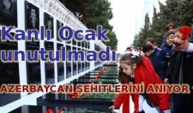 Azerbaycan şehitlerini anıyor
