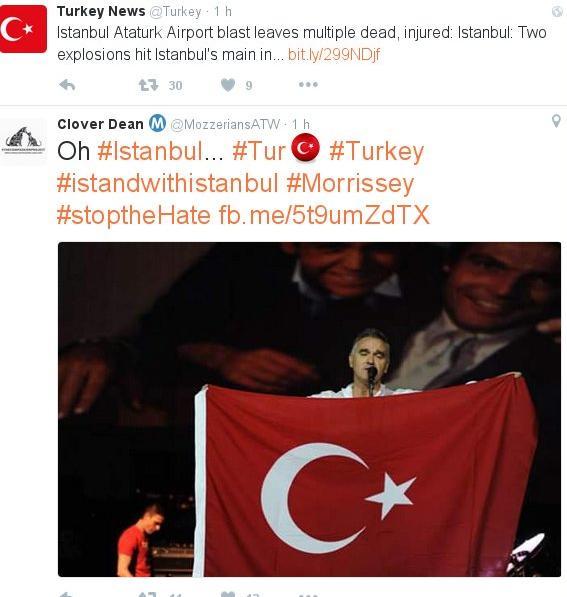 Toplumsal paylaşım ortamlarında Türklerle dayanışma iletileri yayınlandı.