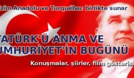 Montreal'de Atatürk'ü Anıyoruz!