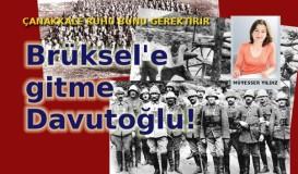 Brüksel'e Gitme Davutoğlu!..