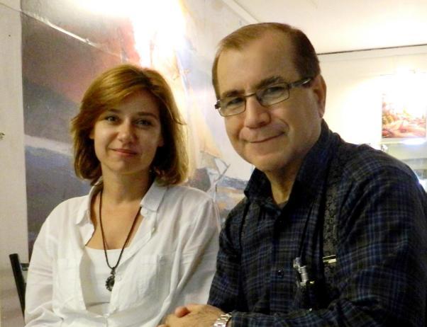 Füsun Kostak ve Ömer F. Özen İstanbul'daki imza gününde birlikte.