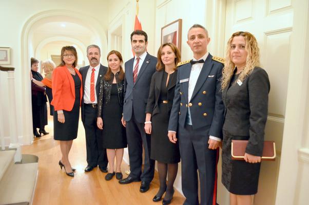 Büyükelçilikte Cumhuriyet kutlaması.