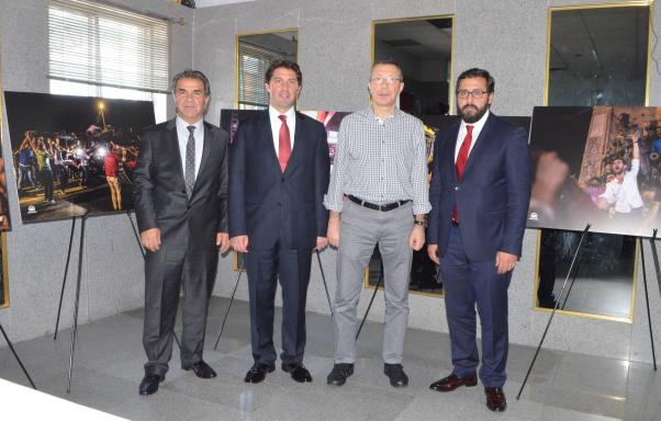 Etkinlikte AA'nın derlemiş olduğu 15 Temmuz fotoğraf Sergisi de yer aldı.