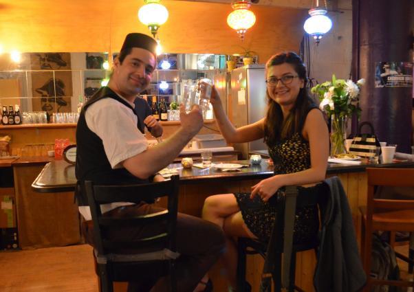Festivalito Turco'nun Türk konukları da vardı; İçten Meras arkadaşıyla tango şenliğini yaşadı.