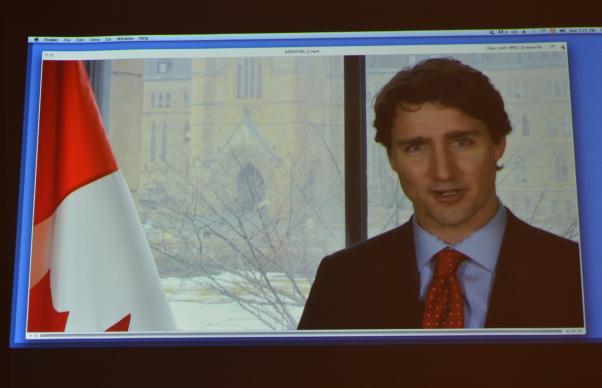 Trudeau'nun İlkyaz iletisi dinlendi.