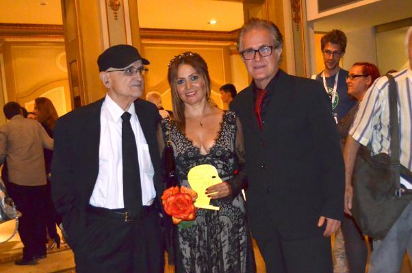 Zümrüt Erkin ve Mehmet Eryılmaz Festival Başkanı Serge Losique birlikte.