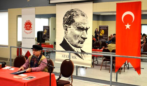 Ömer Özen yaptığı konuşmada Atatürk ve Cumhuriyet düşmanlarının yalanlarına karşı uyanık olmak gereğinin altını çizdi.