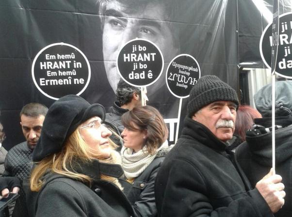 İstanbul'da Hrant Dink vurulduğu yerde anıldı.