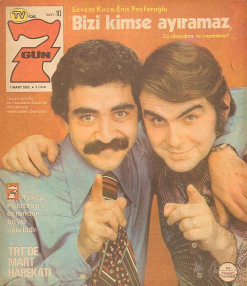 Enis Fosforluoğlu'yla dergi kapağında.