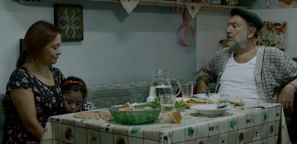 Zümrüt Erkin (Daughter) and Tamer Levent (father) in the Visitor (Misafir)