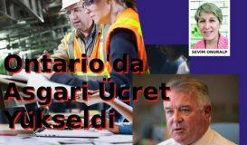 Ontario'da Asgari Ücret Yükseldi