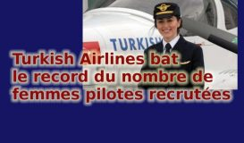 Turkish Airlines bat le record du nombre de femmes