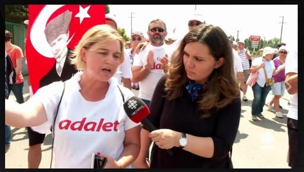 Kanada'dan Nil Köksal yürüyüşü CBC adına izledi.