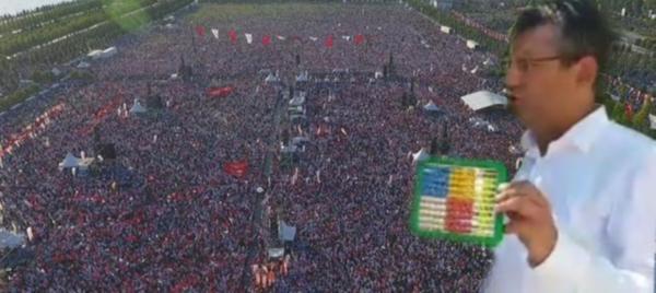 İvedilikle geceyarısı açıklama yayınlayıp katılanları 170 bin olarak belirleyen İstanbul Valisi'ne CHP'li Özgür Özel sayı sayma gereci göndereceklerini bildirdi.