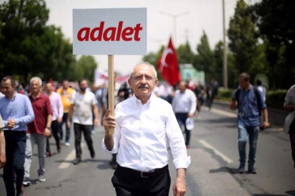Kılıçdaroğlu 'Adalet' için yürüyor...