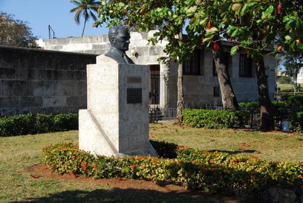 Havana'da Atatürk büstü.