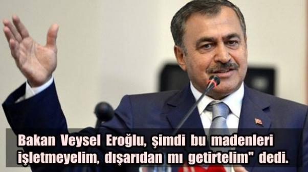 Bakan Eroğlu: 'Dışarıdan mı getirelim?'..
