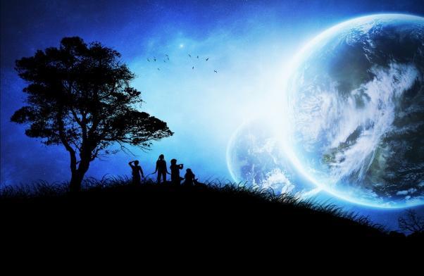 Başka gezegen hayali.