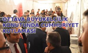 Ottava Büyükelçiliği Konutu'nda kutlama