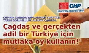 CHP Kanada 1 Kasım'da 'Haydi Sandığa' dedi