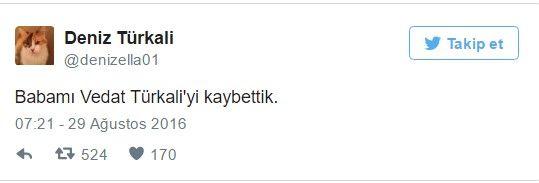 Deniz Türkali'den duyuru.