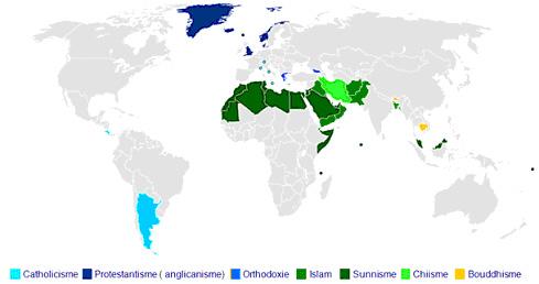 Din haritası.