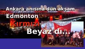 Edmonton Ankara katliamını andı