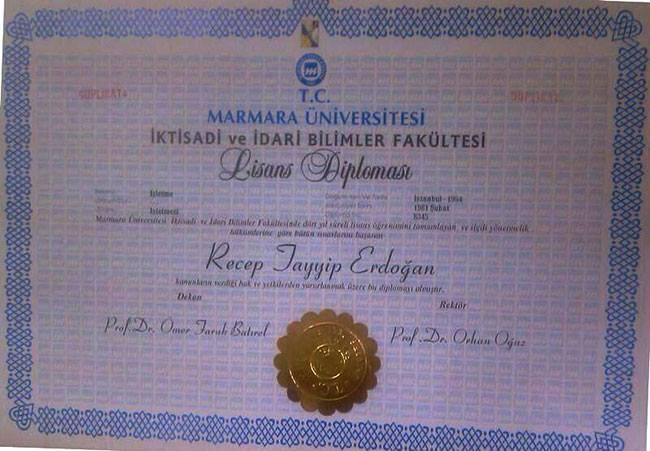 Marmara Üniversitesi kuruluşundan önceki tarihe diploma yarattı.