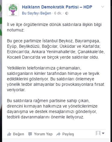 HDP'den açıklama.