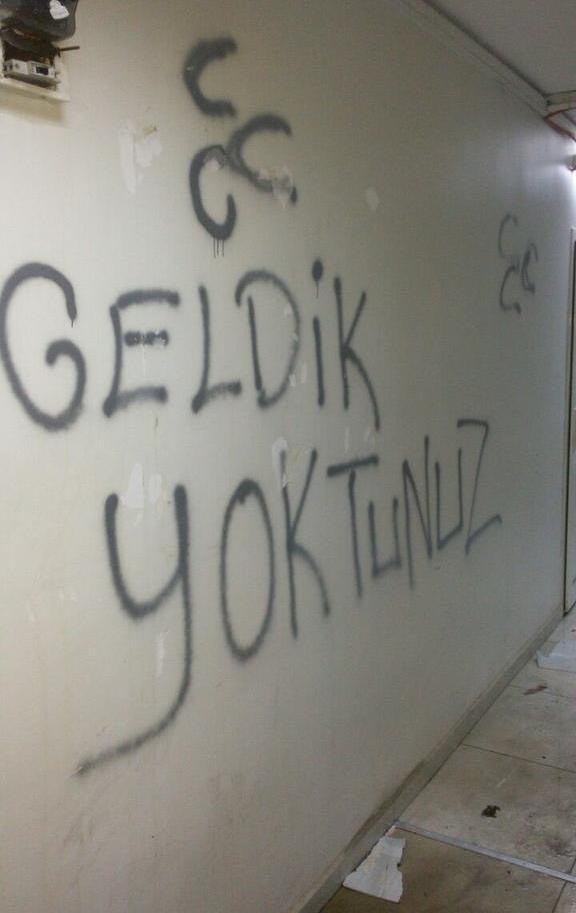HDP binalarına saldırı.