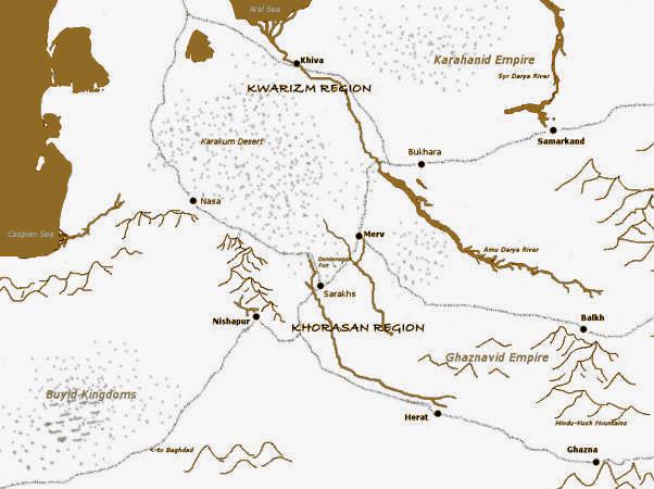 Kitapta öykülenen bölgenin haritası.