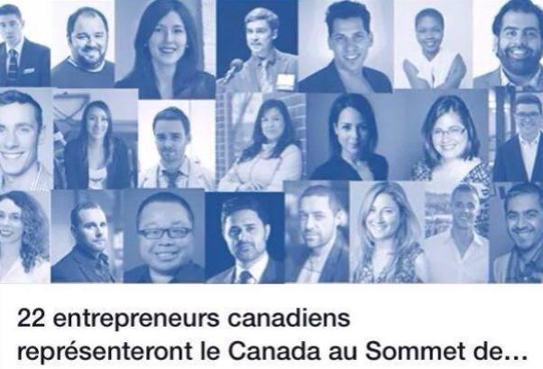 22 young entrepreneurs who will represent Canada at the G20 YEA Summit in Istanbul.