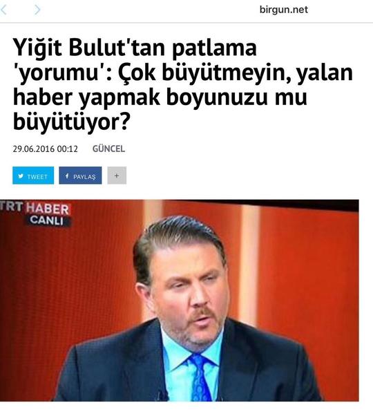 Yiğit Bulut'un TRT'de söylediği sözler tepki çekti.
