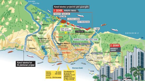'Çılgın Proje' Kanal İstanbul'un ayrıntıları ortaya çıkıyor.