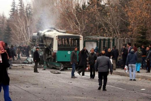 Kayseri'de bombalı saldırı.